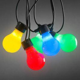 Bunte LED-Biergartenkette mit matten Birnen