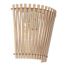 Effektvoll scheinende Holz-Wandleuchte Sendero