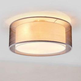 Stoff-Deckenlampe Nica in Grau