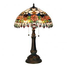 Farbenprächtige Tischleuchte Maja, Tiffany-Design