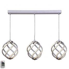 Dreiflammige LED-Pendelleuchte Twist, aluminium