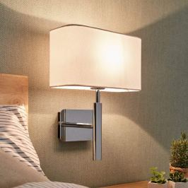 Wandlampe Jettka mit Textilschirm und Schalter