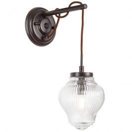 Ausladende Wandlampe Tanic in Braun und Klar