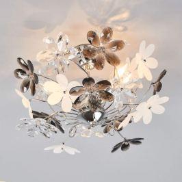 Deckenleuchte Flower mit transparenten Blüten