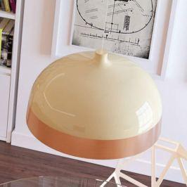 Schirm in Kupfer/Creme - Hängelampe Glaze, 33 cm