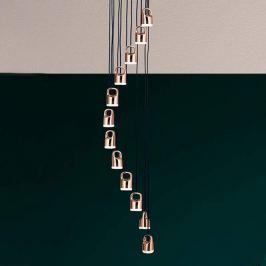 Spiralförmige LED-Hängeleuchte Tinus
