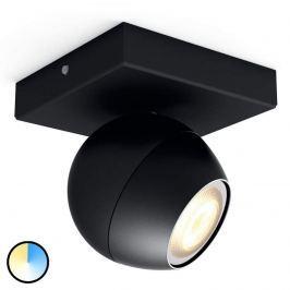 Philips Hue Buckram LED-Spot 1fl schw. Erweiterung