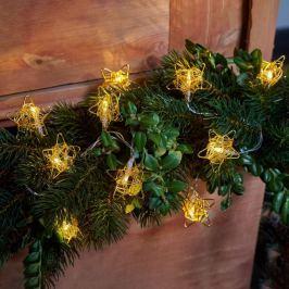 Sterne in Gold - LED-Lichterkette Elisa