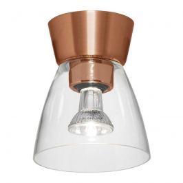 Deckenlampe Bizzo Baldachin Kupfer Klarglas