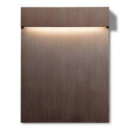 FLOS Real Matter LED-Wandeinbauleuchte IP65 bronze