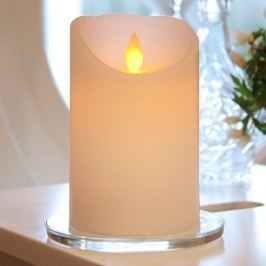 Weiße LED-Kerze Glim m. Flackerlicht