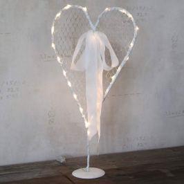 Weißes LED-Dekoherz Mammas Hjärta stehend