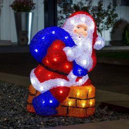 Bunte LED-Außendekorationsleuchte Weihnachtsmann