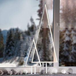 Aluminiumfarbene LED-Dekoleuchte Pine 50 cm