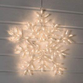 Warmweiß leuchtende LED-Schneeflocke