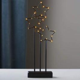 Schwarze 3-Stern-Dekoleuchte Stary m. LED