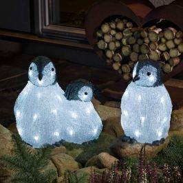 LED-Acryl-Leuchtfiguren Pinguinfamilie 3er