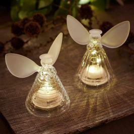Ansprechende LED-Glasengel Iris Angel klar/frost