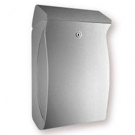 Kompakter Kunststoff-Briefkasten Swing, silber