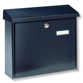 Schlichter Stahl-Briefkasten AMSTERDAM, schwarz