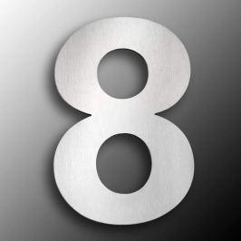 Edelstahl-Hausnummern  groß 8