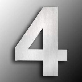 Edelstahl-Hausnummern  groß 4