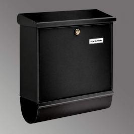 Briefkasten COMFORT-SET mit Zeitungsrolle, schwarz