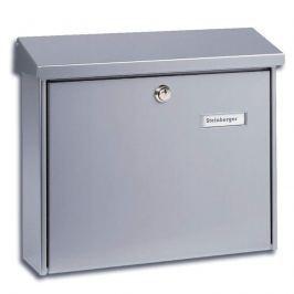 Schlichter Stahl-Briefkasten AMSTERDAM, silber