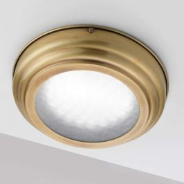 Stilvolle LED-Deckenlampe Scirocco, Messing satin