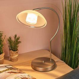 Gläserne LED-Tischleuchte Melani mit Dimmfunktion