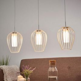 Dreiflammige LED-Hängelampe Vencino aus Stahl