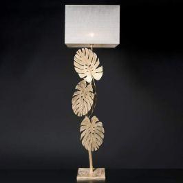 Imposante Stehlampe Lizia mit Blattgold
