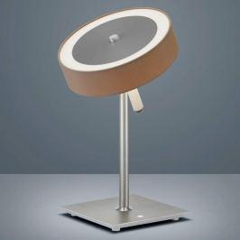 Helestra Bora - LED-Tischleuchte, Schirm mocca