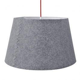 Alice - graue LED-Hängeleuchte mit Filzmantel