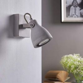 Grauer LED-Spot Kadiga aus Beton