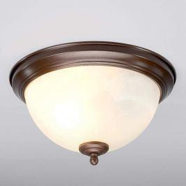 Rostfarbene Bad-Deckenlampe Corvin