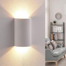 Effektvoll scheinende LED-Gipswandleuchte Jenke