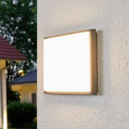 Quadratische LED-Außendeckenleuchte Amra