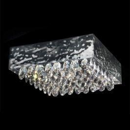 Glanzvolle Deckenleuchte MAGMA mit Kristallbehang