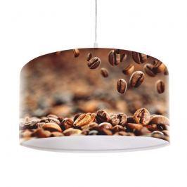 Mit Kaffee-Motiv bedruckte Hängeleuchte Mocca