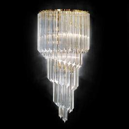 Vergoldete Kristallwandleuchte Vortice