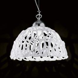 Weiße Glas-Hängeleuchte Cobweb, 32 cm