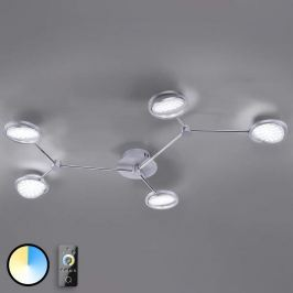 Q-Orbit - fünfflammige LED-Deckenleuchte mit FB
