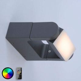 Q-Albert - steuerbare LED-Wandlampe für außen, ant