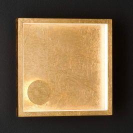 Goldfarbene LED-Wandleuchte Letizia, 2-flg.