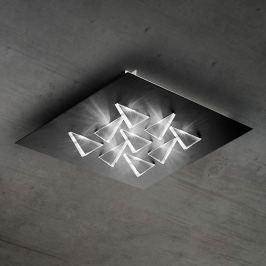 Effektvolle LED-Deckenlampe Cristalli, schwarz