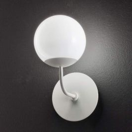 Runde LED-Wandleuchte Sfera, weiß