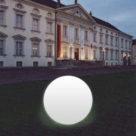 Kugelleuchte Snowball weiß mit Alu-Fuß 100 cm