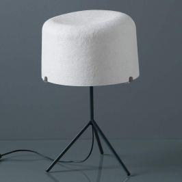 Glasfaserschirm in Weiß - Tischleuchte Ola