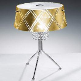 Edle Tischleuchte MEDUSA 2-flammig, gold